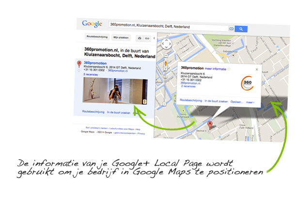 Google+ Local Page in Google Maps