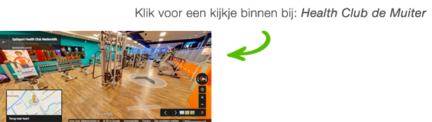 360 Google Virtual Tour bij Fitness